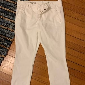 NWT J. Crew Andie White Chino Ankle Pants sz 10